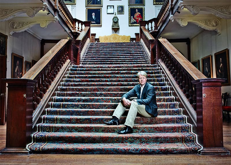 Charles-Spencer-on-the-stairs-at-Althorp