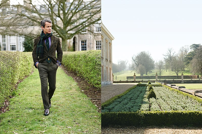 Man-walking-in-gardens